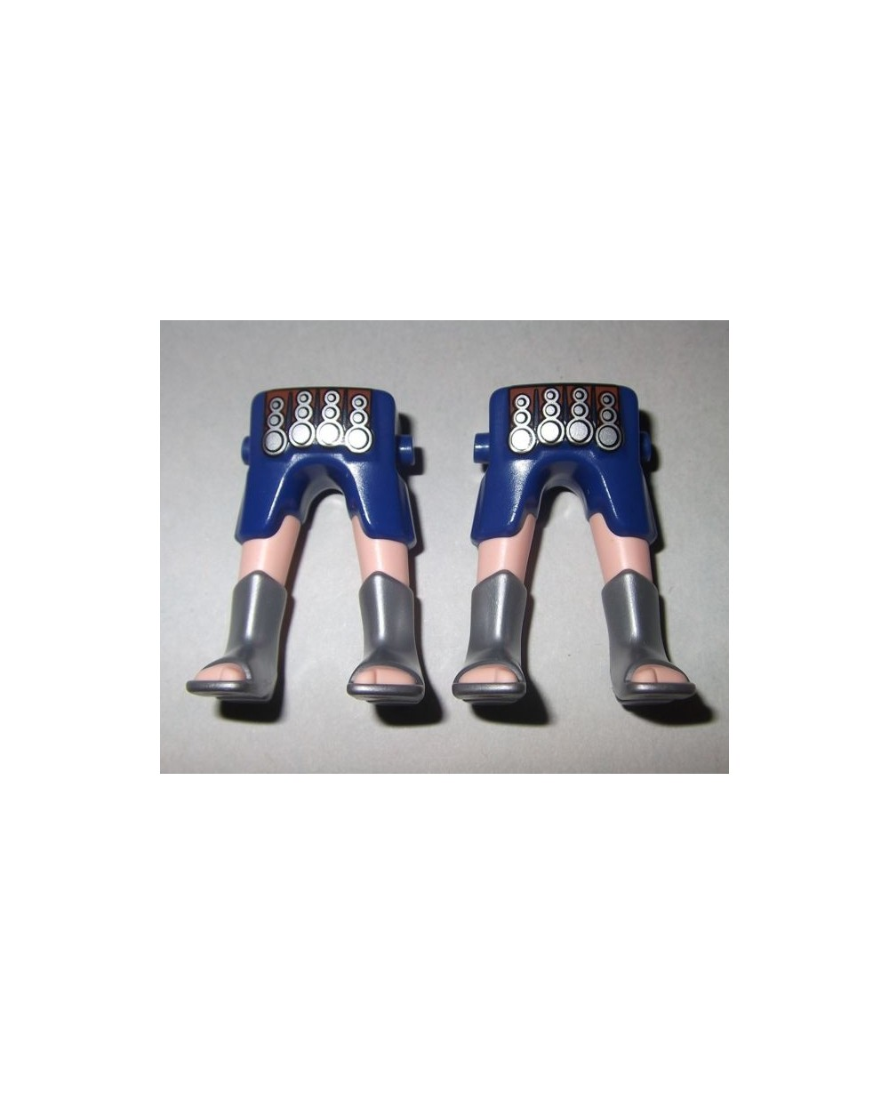 166662 roman legs blue and gold 2u playmobil leg
